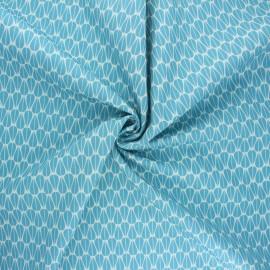 Poplin Cotton Monaluna fabric - Little Leaves Modern Love x 10cm