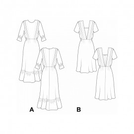 Dress Sewing Pattern - Pauline Alice Sedavi