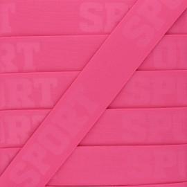 Flat elastic - pink Let's go! x 50cm