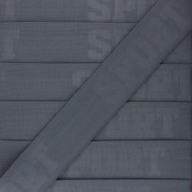 Elastique plat Let's go!  - gris x 50cm