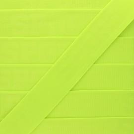 Flat elastic - fluorescent yellow Let's go! x 50cm