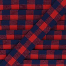 Elastique plat Archibald  - rouge x 50cm