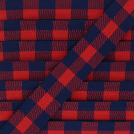 Flat elastic - red Archibald x 50cm