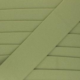Flat elastic - khaki green Lorna x 1m