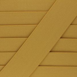 Elastique plat Lorna - jaune moutarde x 1m