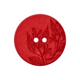 Bouton Chanvre Recyclé Florette - Rouge