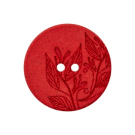 Recycled Hemp Button - red Florette