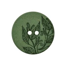 Bouton Chanvre Recyclé Florette - Vert