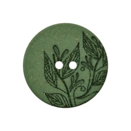 Recycled Hemp Button - green Florette