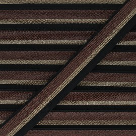 Flat elastic - bronze Sparkly x 1m