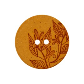 Recycled Hemp Button - mustard yellow Florette
