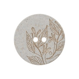 Recycled Hemp Button - light grey Florette