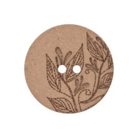 Recycled Hemp Button - hazelnut Florette