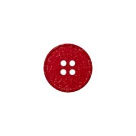 Bouton Chanvre Recyclé Mini - Rouge