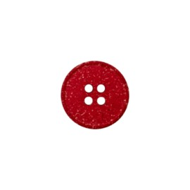 Recycled Hemp Button - red Mini
