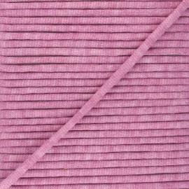 Cordon tricoté chiné (7 mm) - vieux rose  x 1m