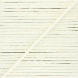 Cordon tricoté chiné (7 mm) - écru x 1m