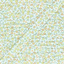 18 mm poly cotton bias binding - yellow Tendres Fleurs x 1m