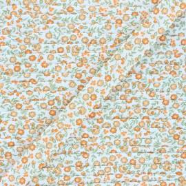18 mm poly cotton bias binding - orange Tendres Fleurs x 1m