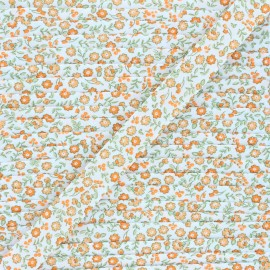 Biais polycoton 18 mm Tendres Fleurs - orange x 1m