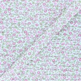 Biais polycoton 18 mm Tendres Fleurs - rose x 1m