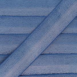 40 mm bicolor Lurex Elastic - Royal blue/Silver Party x 50cm