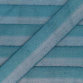Elastique bicolore Lurex Party 40mm - Vert paon/Argent x 50cm