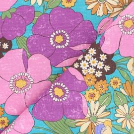 Kokka cotton canvas fabric - purple Jambo Söpö Retro x 10 cm