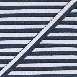 Elastique bicolore Lurex Glam Night - Bleu marine/Argent x 1m