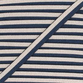 Elastique bicolore Lurex Glam Night - Bleu marine/Doré x 1m