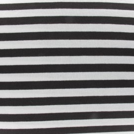 Stripes jersey fabric V2 - brown x 10cm