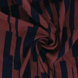 Tissu Mind the Maker Viscose Un-Square - Rouille x 10 cm