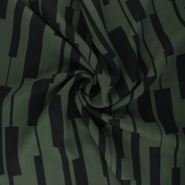 Mind the Maker Viscose fabric - Khaki Green Un-Square x 10 cm