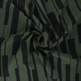 Tissu Mind the Maker Viscose Un-Square - Kaki x 10 cm
