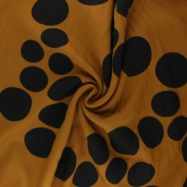 Mind the Maker Viscose fabric - Ochre About a Dot x 10 cm