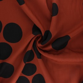 Tissu Mind the Maker Viscose About a Dot - Rouille x 10 cm