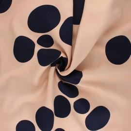 Tissu Mind the Maker Viscose About a Dot - Nude x 10 cm
