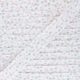 Biais coton Fleur des Champs - rose x 1m