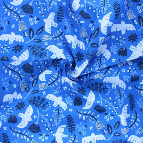 Cotton Steel cotton fabric Marbella - Sky High Free as a Bird x 10cm