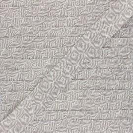 Biais polycoton 30 mm Célia - écru x 1m