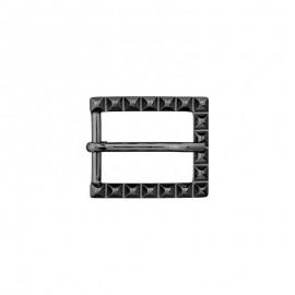 25 mm Metal Belt Buckle – black Let's rock