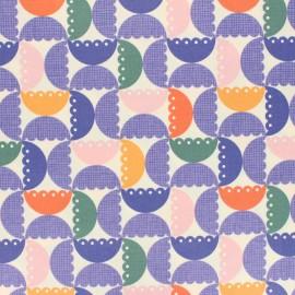 Tissu coton enduit mat Cloud 9 Laminates - Blooming Groovy x 10 cm