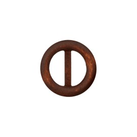 Boucle coulissante ronde Wood - Chêne foncé