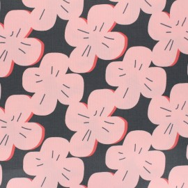 Tissu coton enduit mat Cloud 9 Laminates - Pink Rose x 10 cm