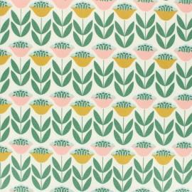 Tissu coton enduit mat Cloud 9 Laminates - Tuliptopia x 10 cm