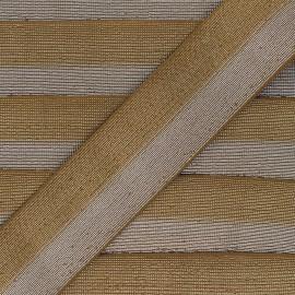 Elastique bicolore Lurex Party 40mm - Doré/Argent x 50cm