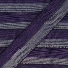 Elastique bicolore Lurex Party 40mm - Violet foncé/Argent x 50cm