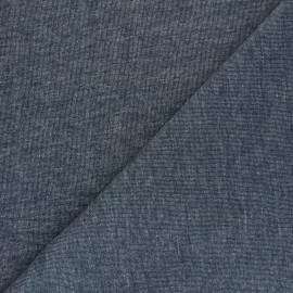 Mind the Maker Organic piqué Sweatshirt fabric - mottled blue x 10 cm