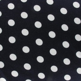 Dots V2 Jersey Fabric - Navy x 10cm
