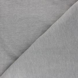 Mind the Maker Organic piqué Sweatshirt fabric - mottled grey x 10 cm
